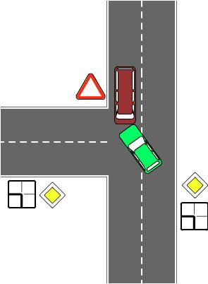 ДТП на главной дороге когда не включил поворотники