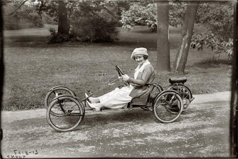 Простейший автомобиль Briggs & Stratton Flyer с моторным колесом